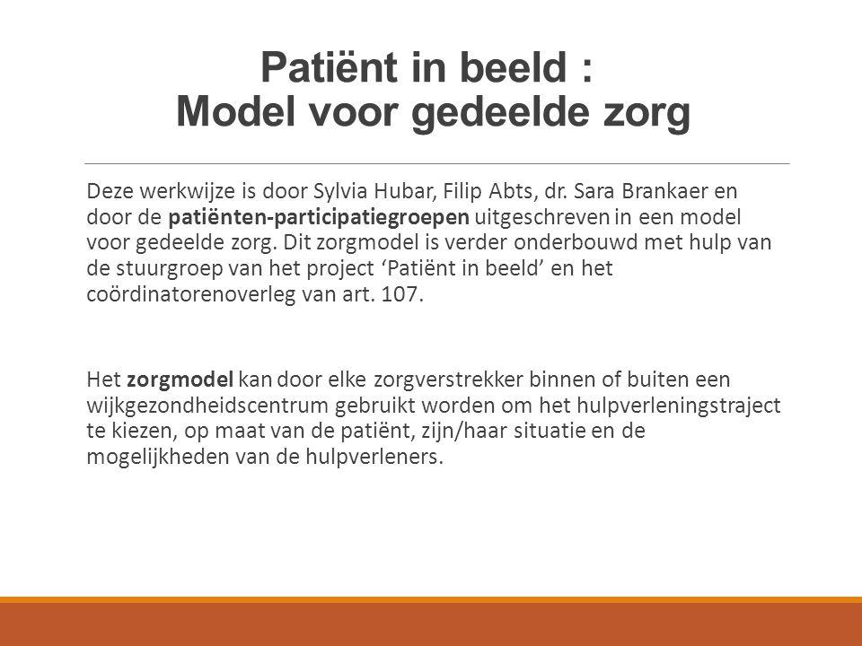 Patiënt in beeld : Model voor gedeelde zorg