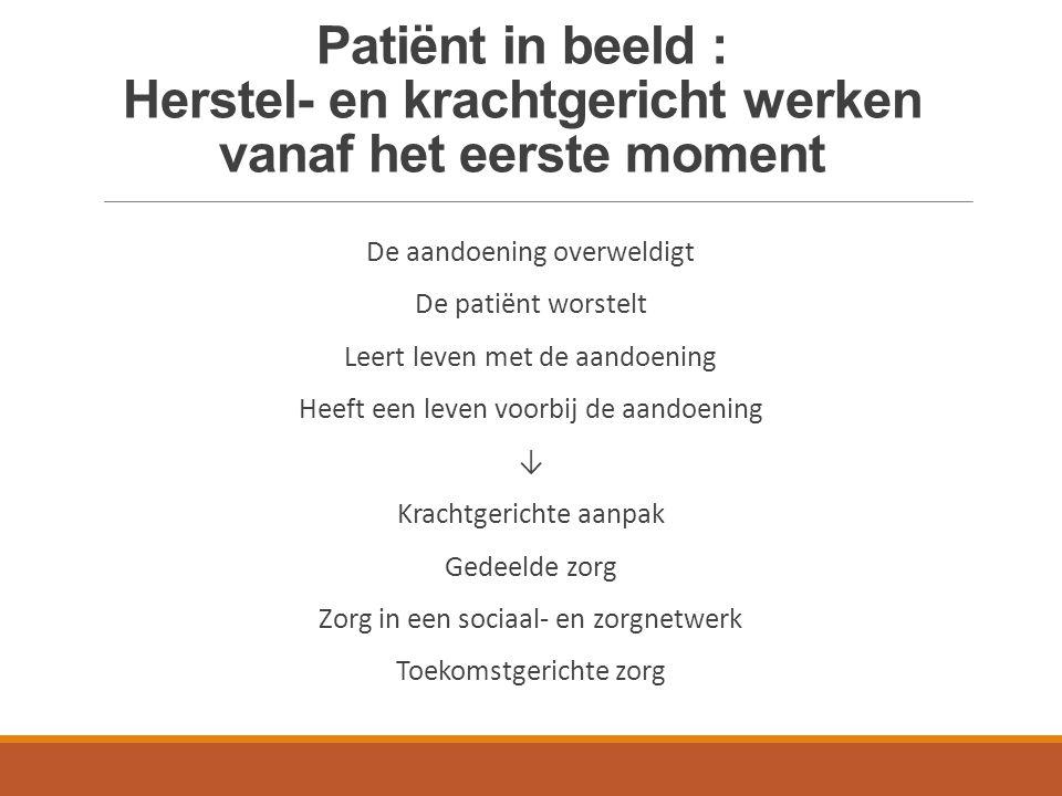 Patiënt in beeld : Herstel- en krachtgericht werken vanaf het eerste moment