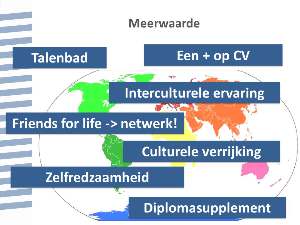 Interculturele ervaring Friends for life -> netwerk!