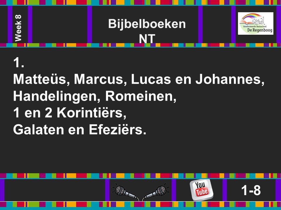 Matteüs, Marcus, Lucas en Johannes, Handelingen, Romeinen,