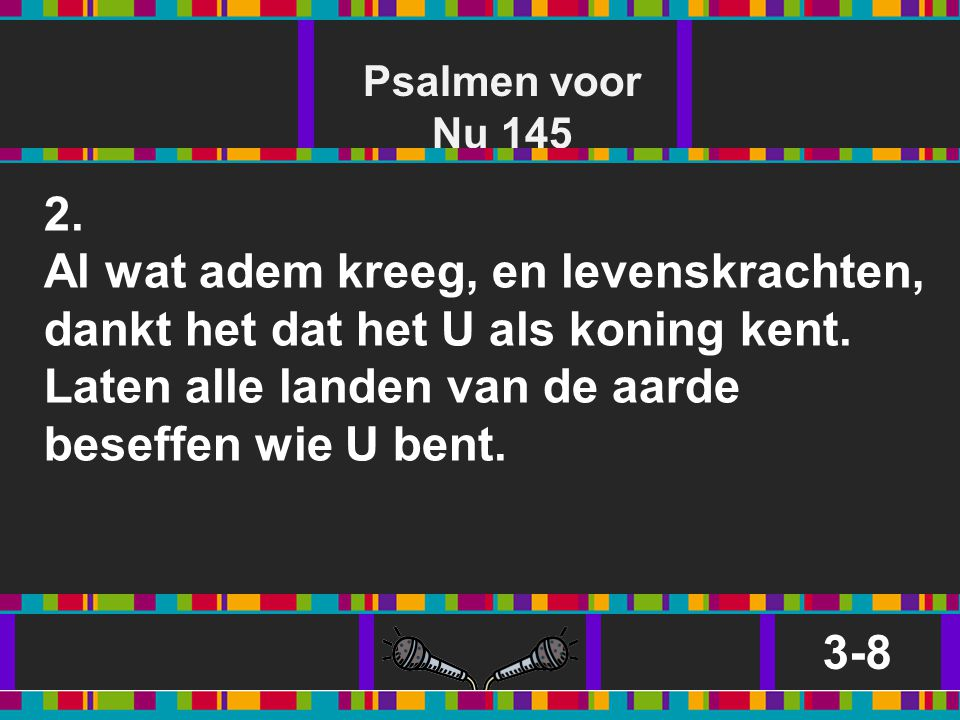 Psalmen voor Nu 145 2.