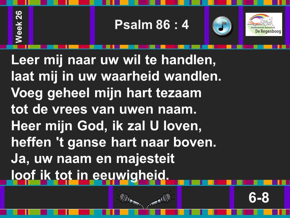Week 26 Psalm 86 : 4.