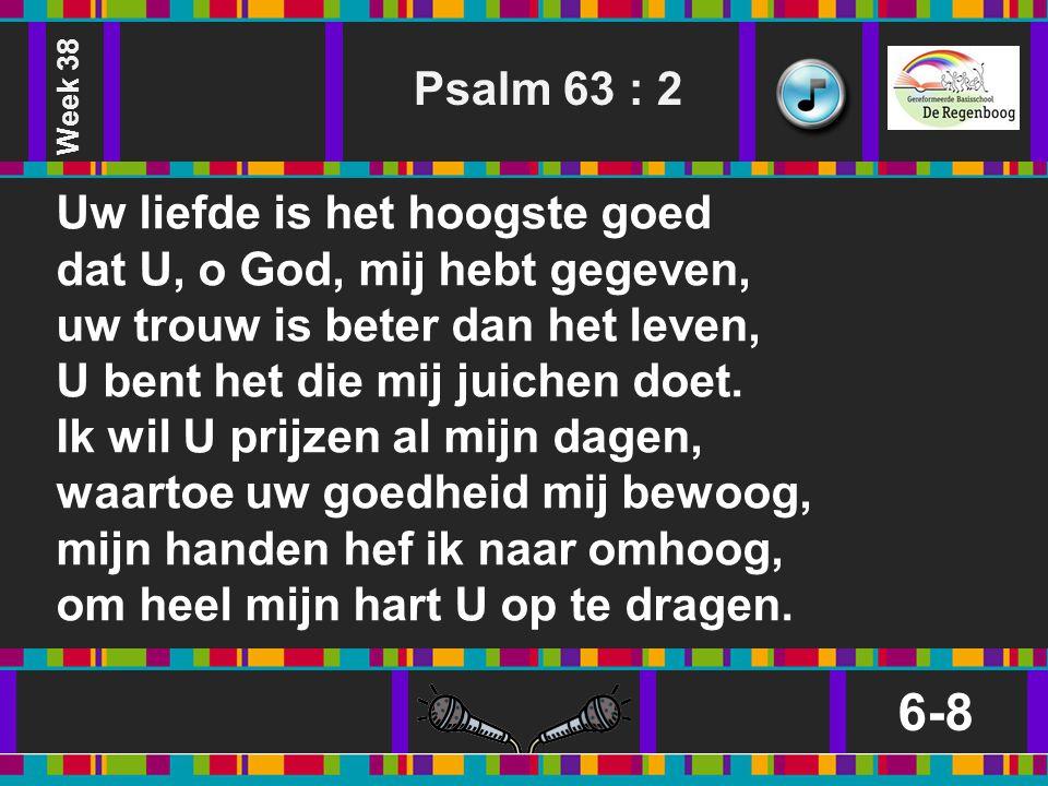 Week 38 Psalm 63 : 2.