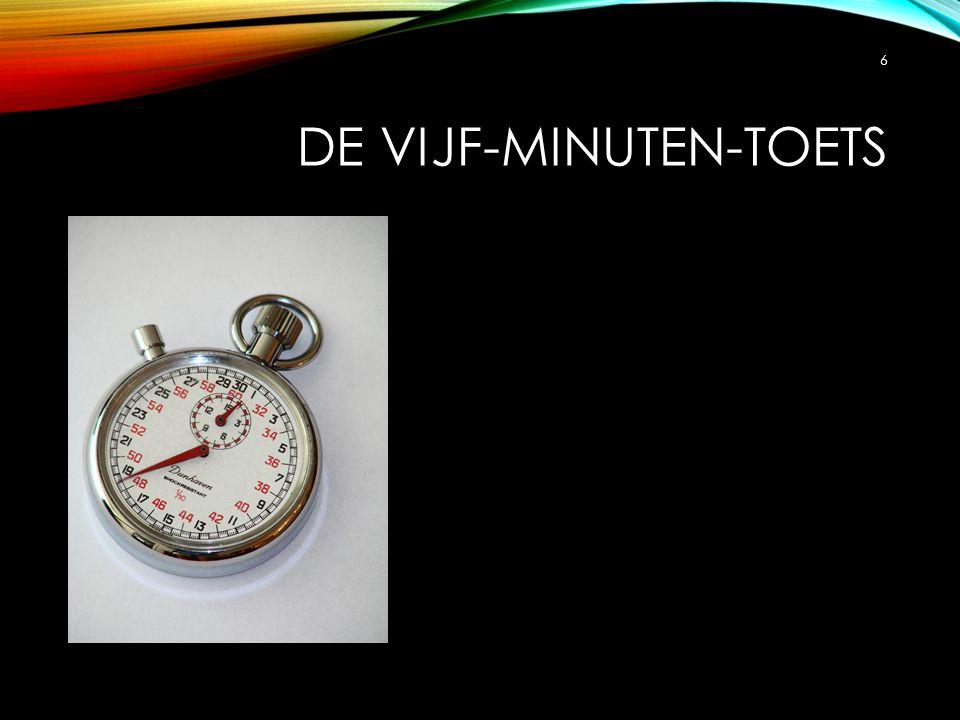 De vijf-minuten-toets