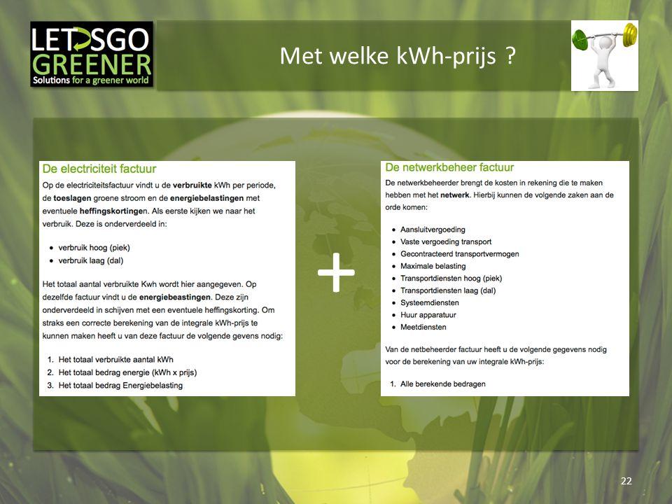 Met welke kWh-prijs +