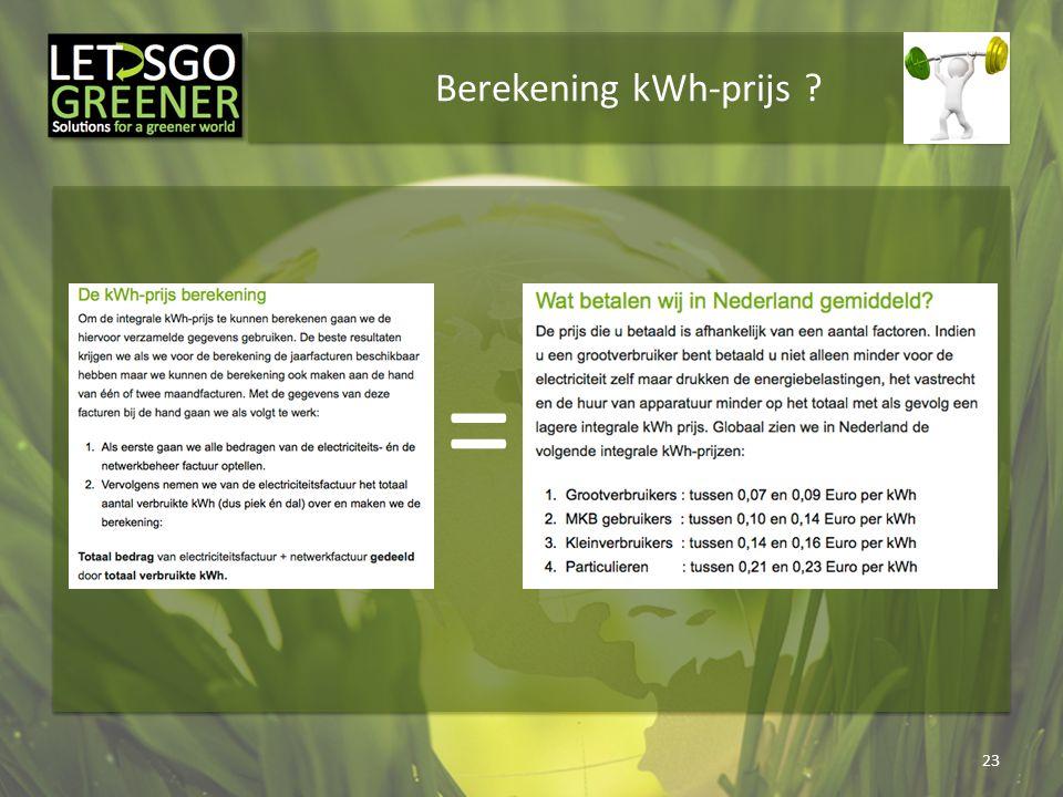 Berekening kWh-prijs =