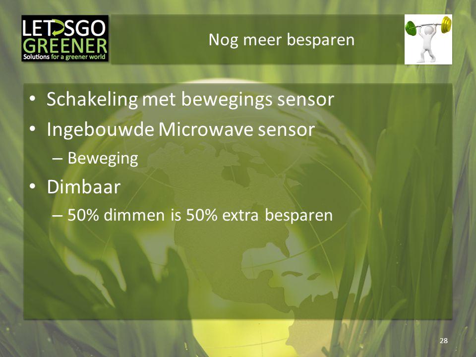 Schakeling met bewegings sensor Ingebouwde Microwave sensor Dimbaar