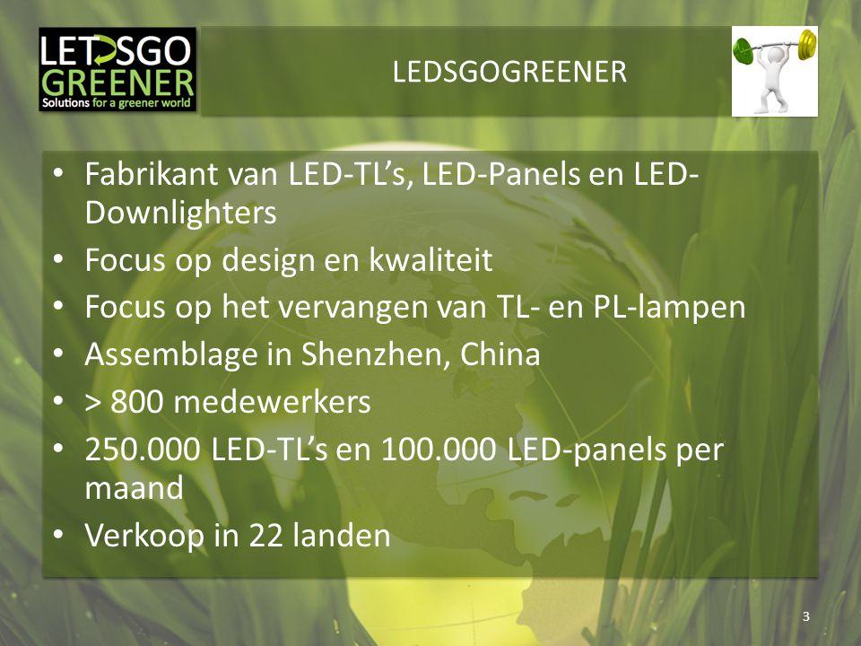 Fabrikant van LED-TL's, LED-Panels en LED-Downlighters