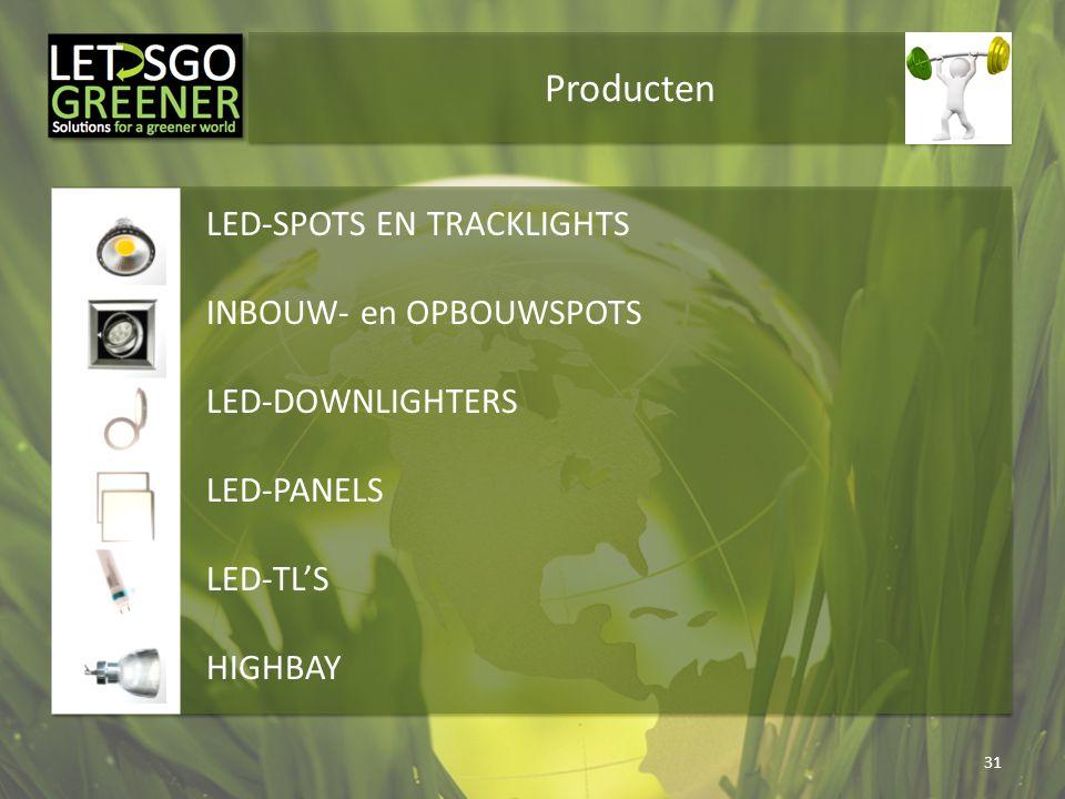 Producten LED-SPOTS EN TRACKLIGHTS INBOUW- en OPBOUWSPOTS