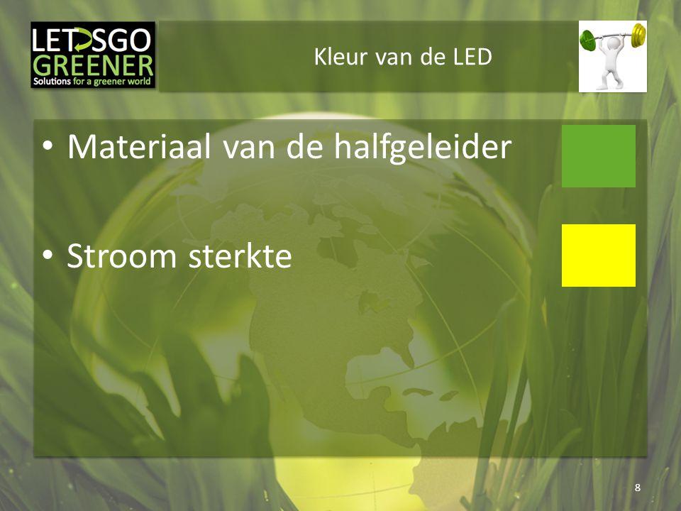 Materiaal van de halfgeleider Stroom sterkte