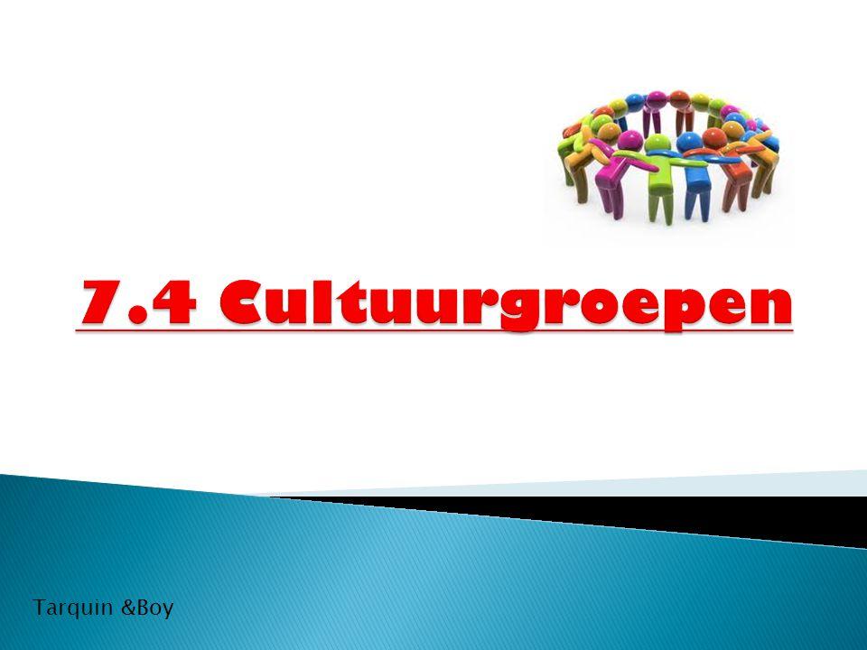 7.4 Cultuurgroepen Tarquin &Boy