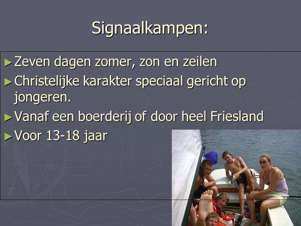 Signaalkampen: Zeven dagen zomer, zon en zeilen