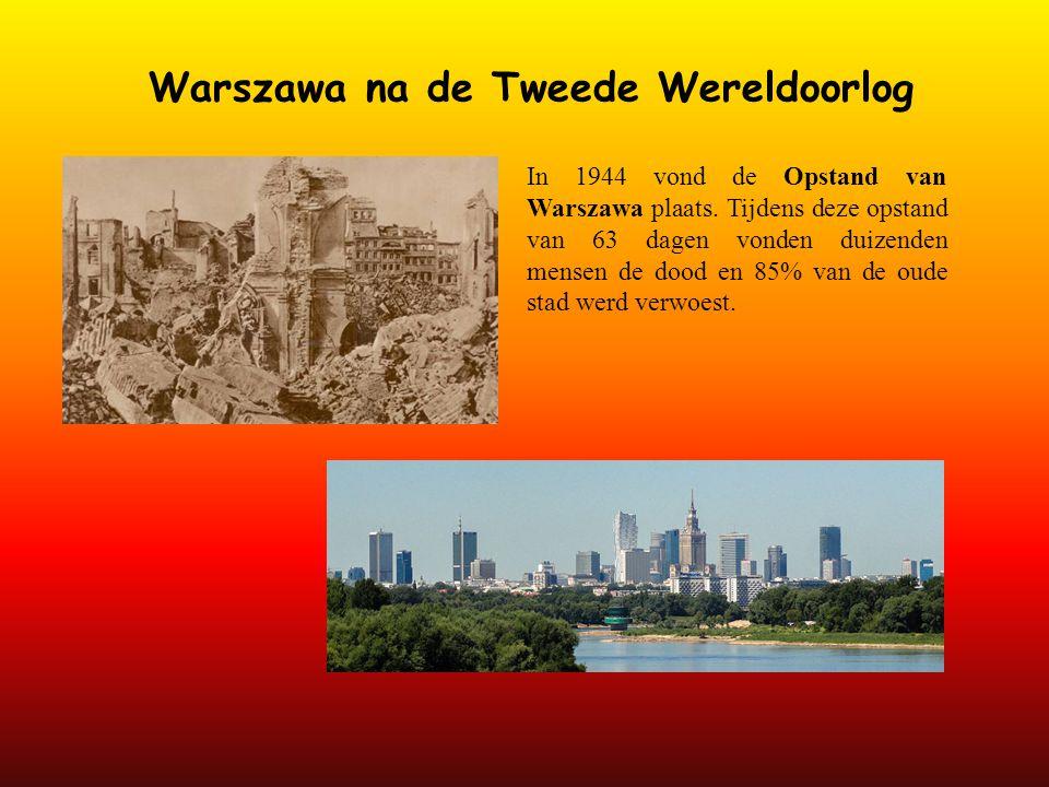 Warszawa na de Tweede Wereldoorlog
