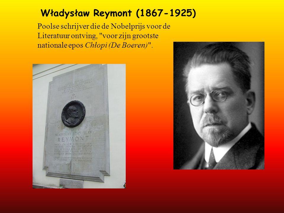 Władysław Reymont (1867-1925) Poolse schrijver die de Nobelprijs voor de Literatuur ontving, voor zijn grootste nationale epos Chłopi (De Boeren) .
