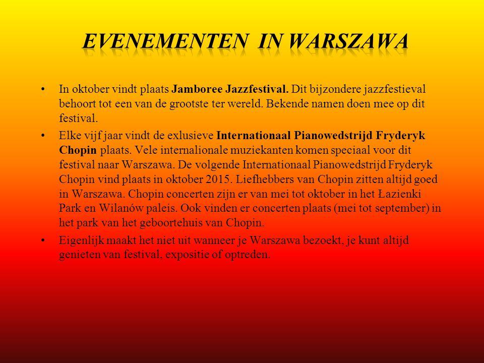 EVENEMENTEN IN WARSZAWA
