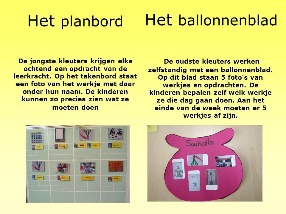 Het planbord Het ballonnenblad