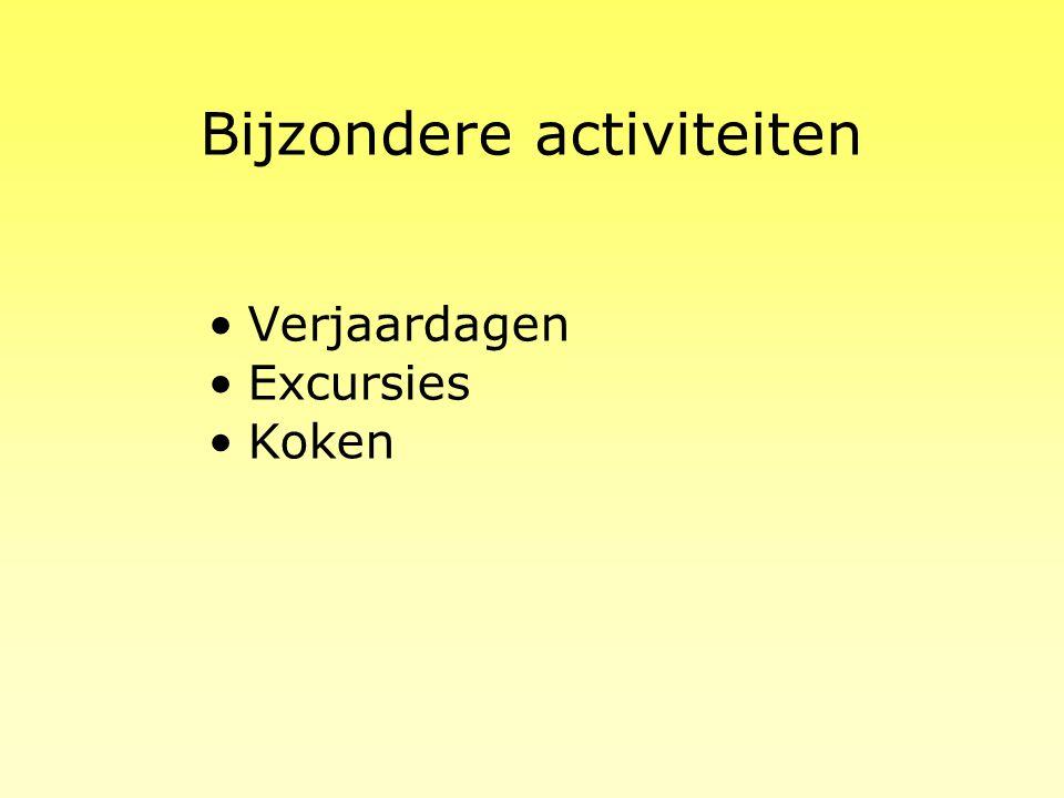 Bijzondere activiteiten