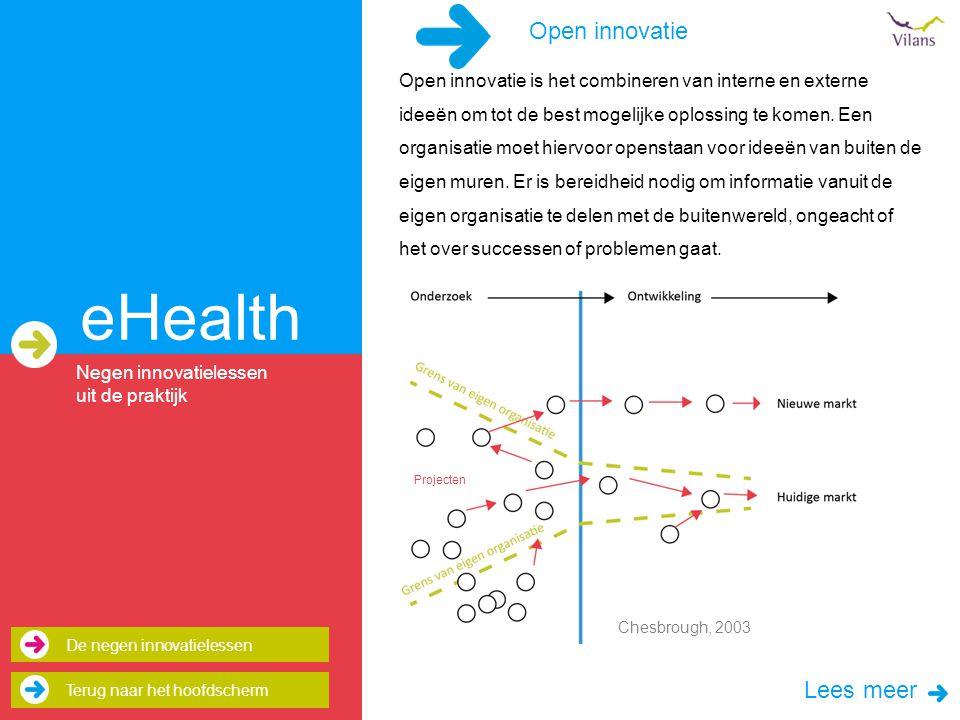 eHealth Open innovatie Lees meer