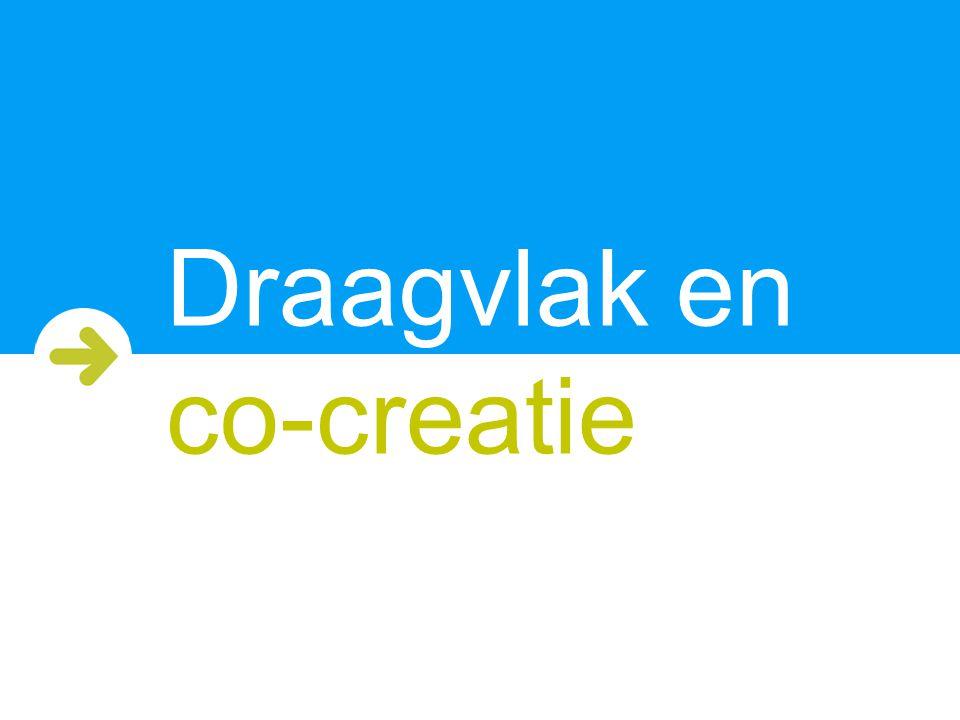 Draagvlak en co-creatie