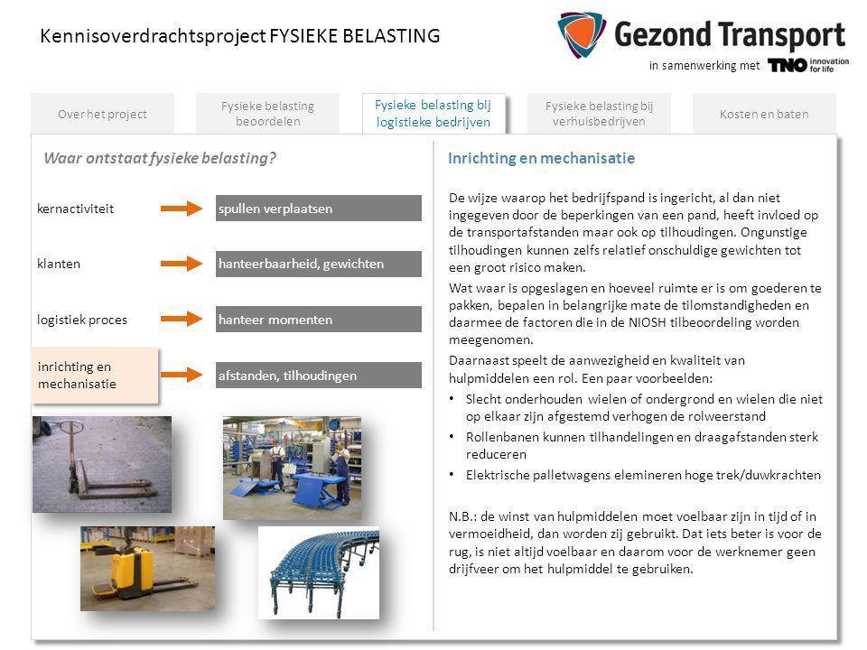 Inrichting en mechanisatie
