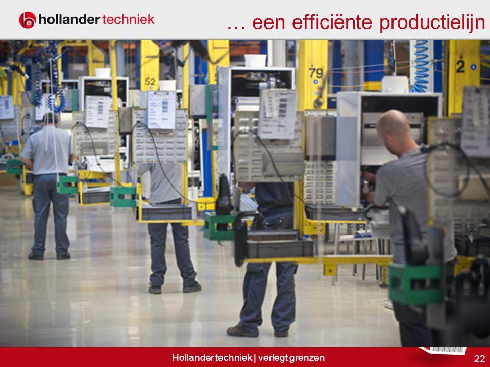 … een efficiënte productielijn