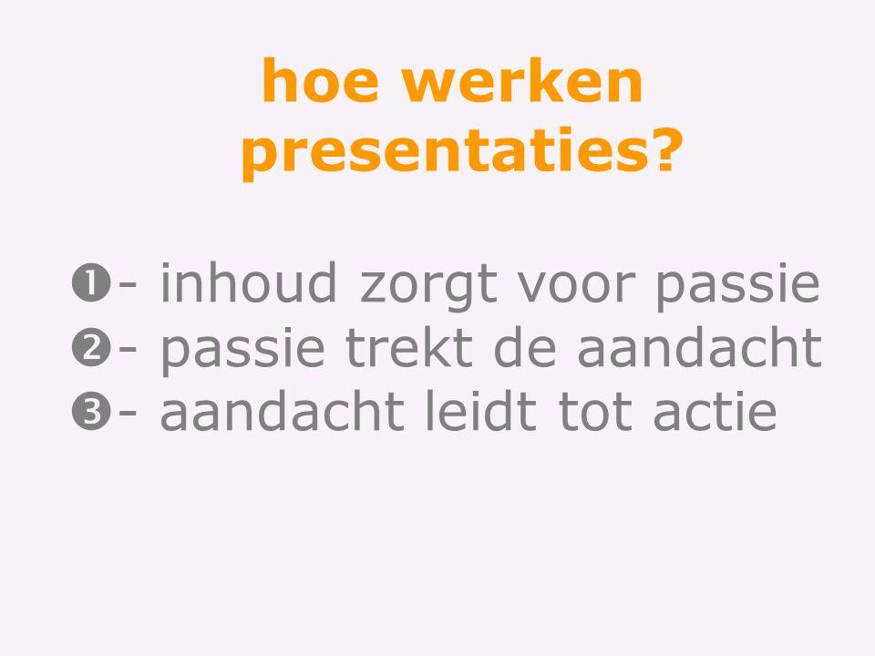 hoe werken presentaties