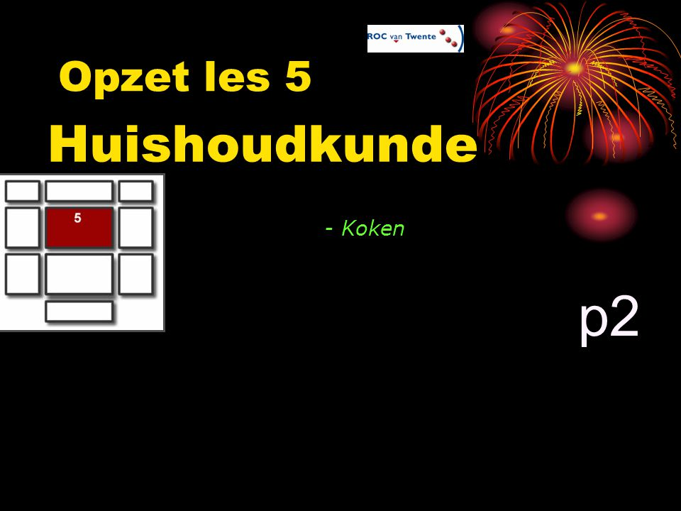 Opzet les 5 Huishoudkunde - Koken p2