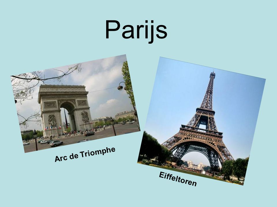 Parijs Arc de Triomphe Eiffeltoren