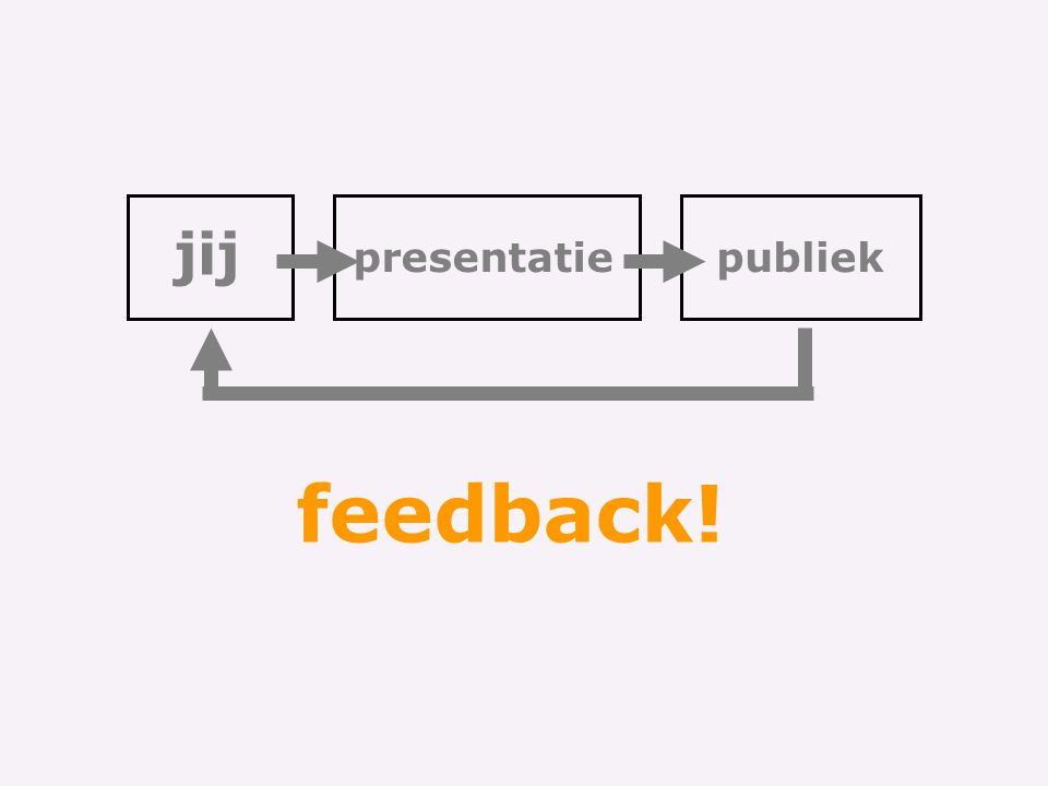 jij presentatie publiek feedback!