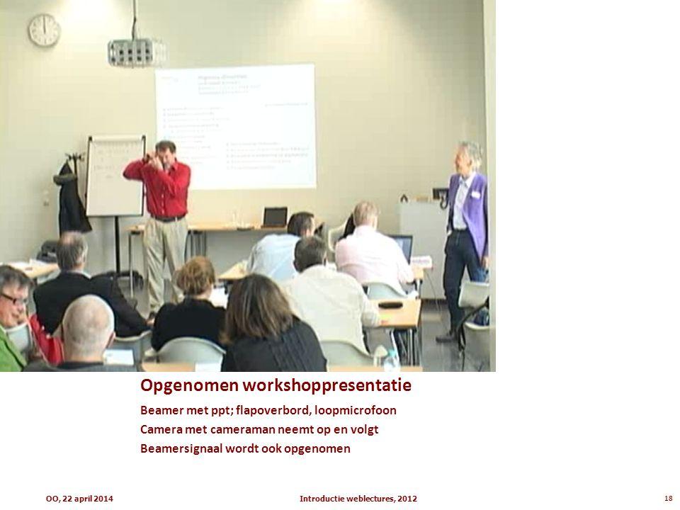 Opgenomen workshoppresentatie