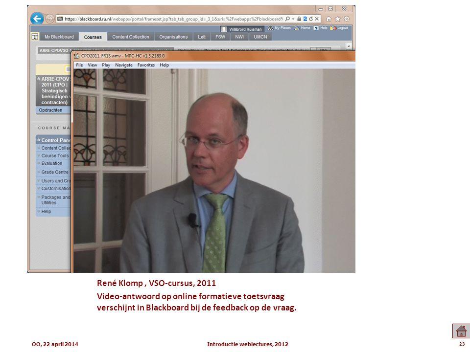 Introductie weblectures, 2012
