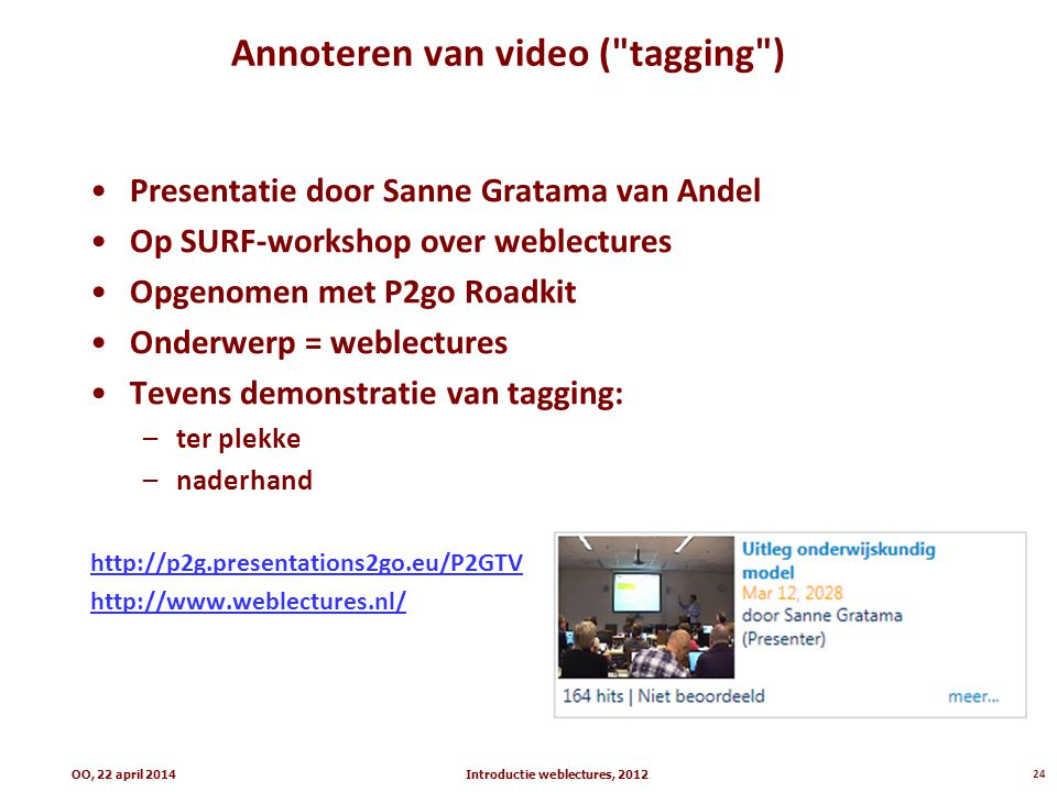 Annoteren van video ( tagging )