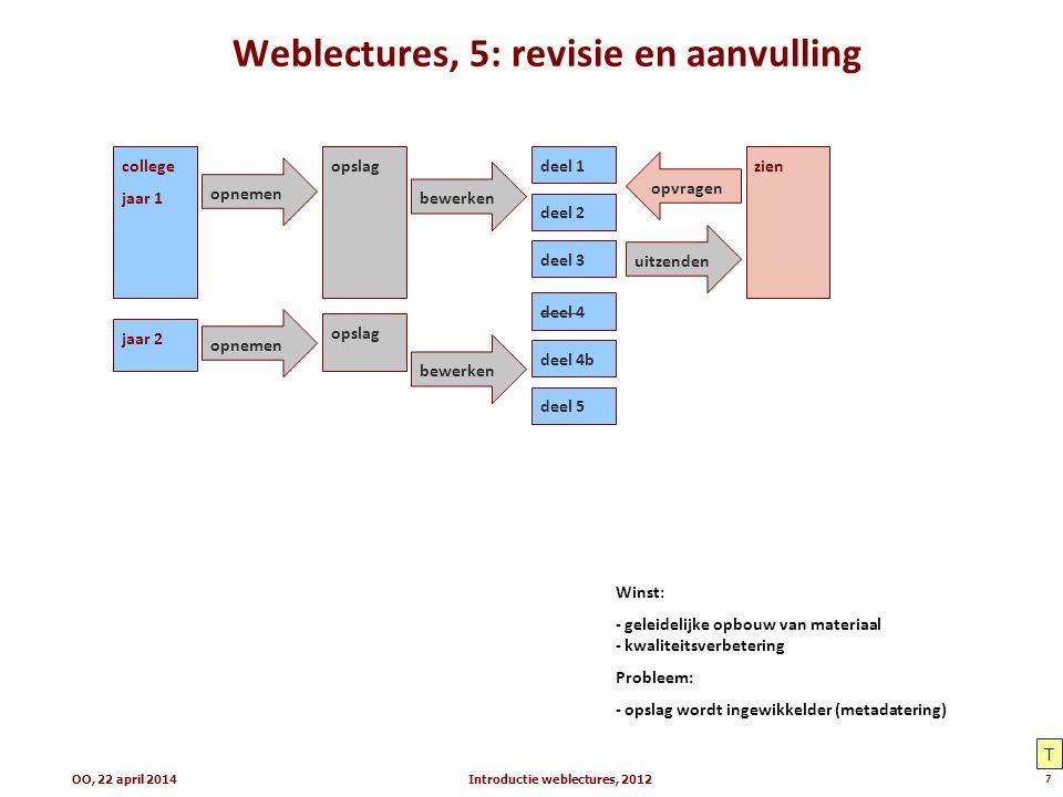 Weblectures, 5: revisie en aanvulling