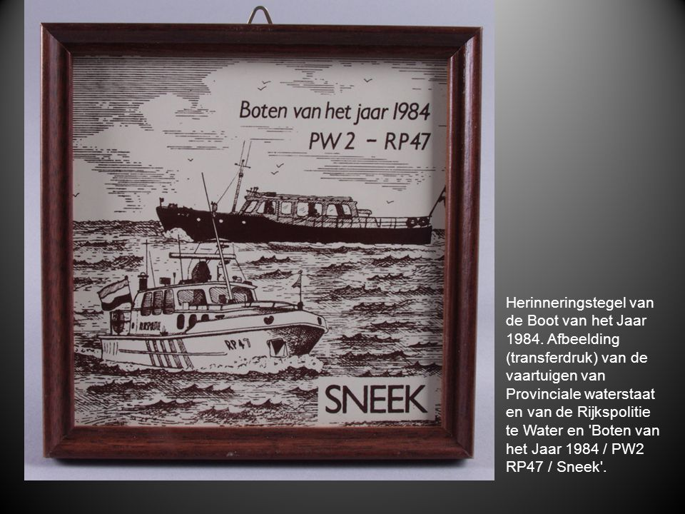 Herinneringstegel van de Boot van het Jaar 1984