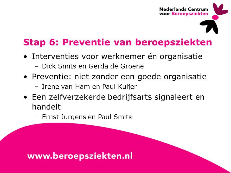 Stap 6: Preventie van beroepsziekten