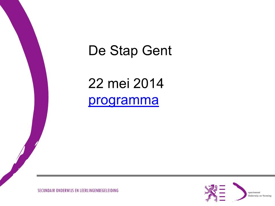 De Stap Gent 22 mei 2014 programma
