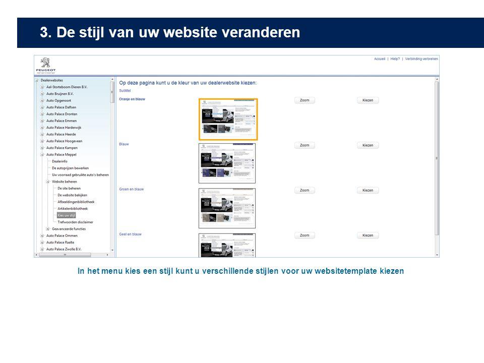 3. De stijl van uw website veranderen