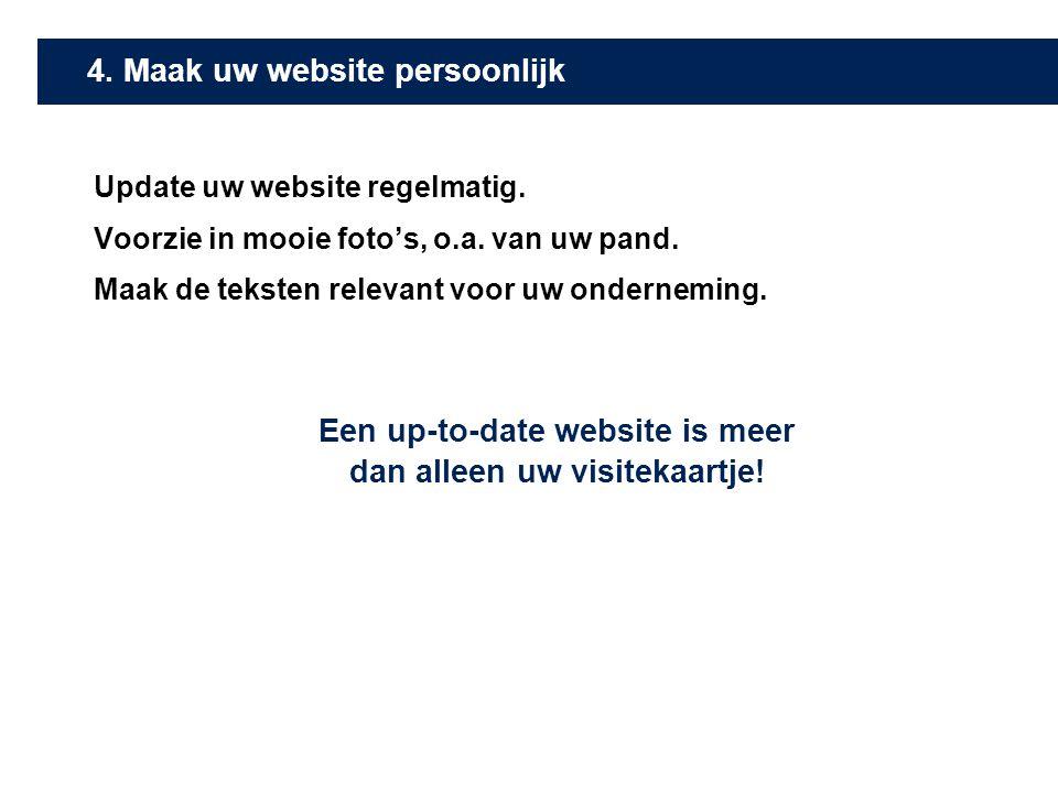 4. Maak uw website persoonlijk