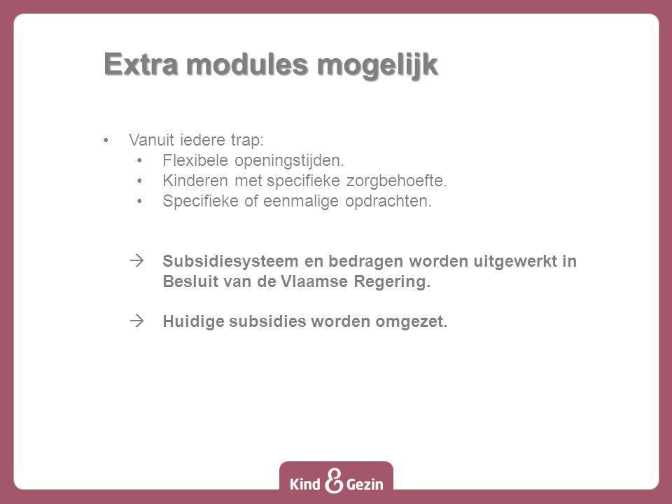 Extra modules mogelijk