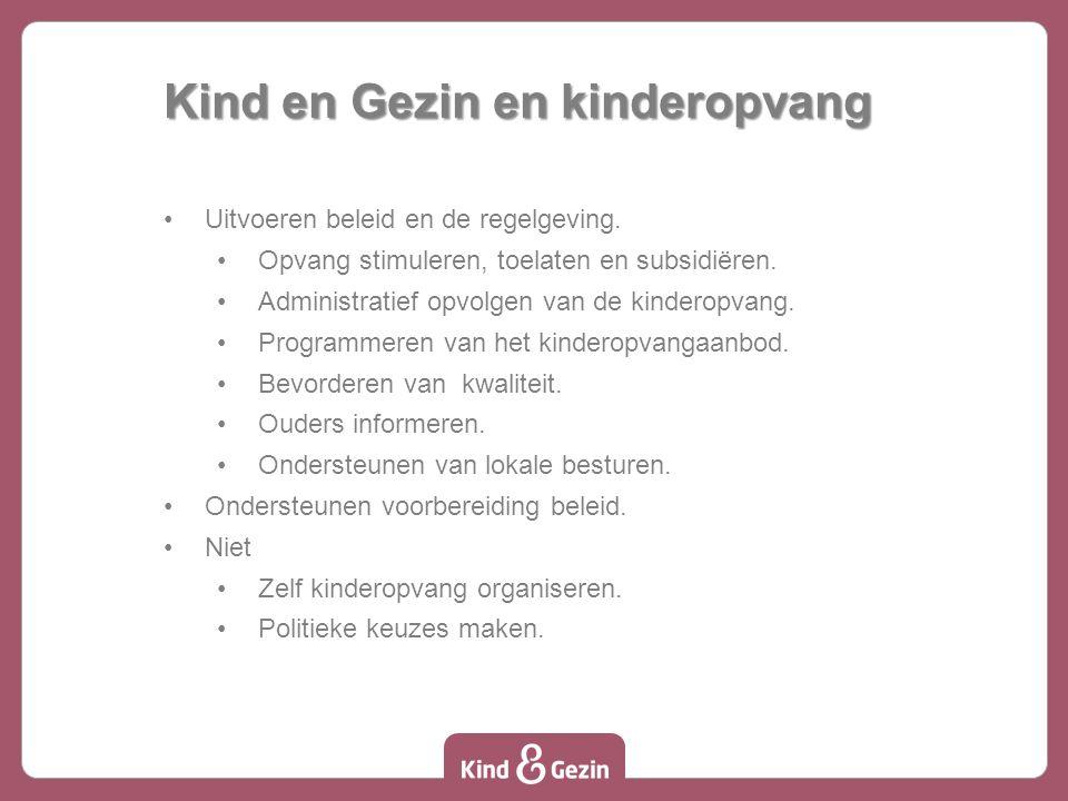 Kind en Gezin en kinderopvang