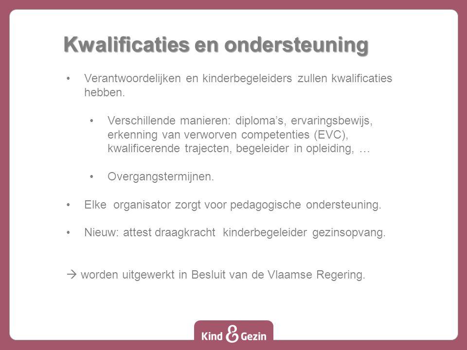 Kwalificaties en ondersteuning