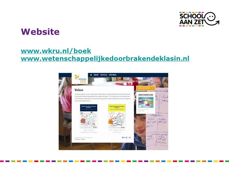 Website www.wkru.nl/boek www.wetenschappelijkedoorbrakendeklasin.nl