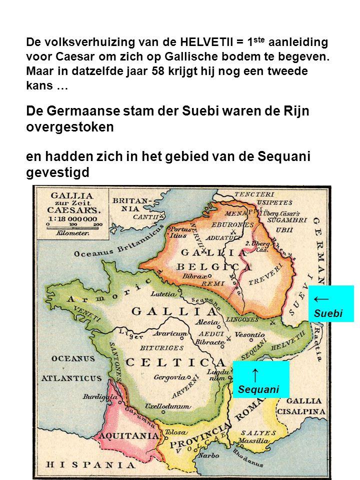 ← Suebi De Germaanse stam der Suebi waren de Rijn overgestoken