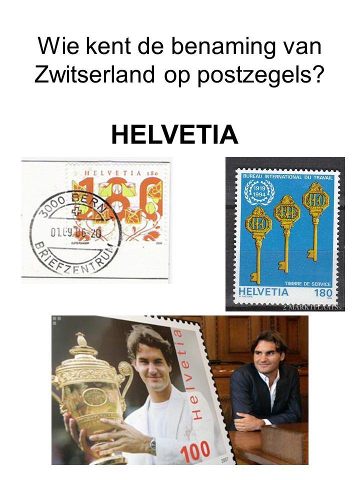 Wie kent de benaming van Zwitserland op postzegels