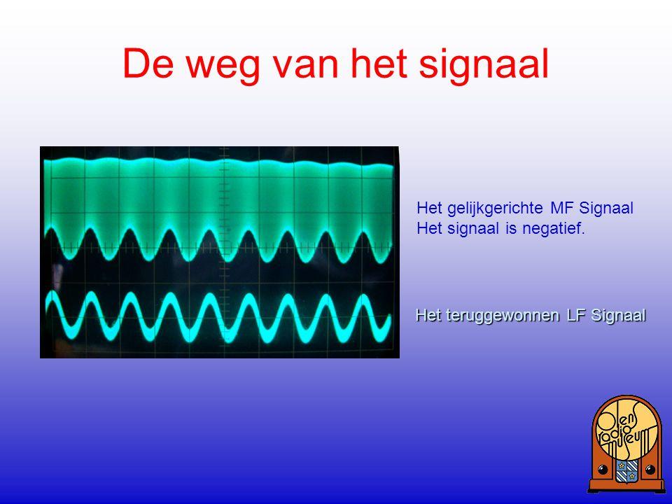 De weg van het signaal Het gelijkgerichte MF Signaal