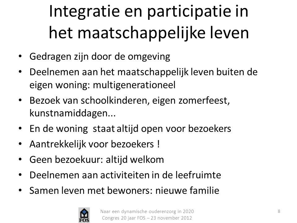 Integratie en participatie in het maatschappelijke leven
