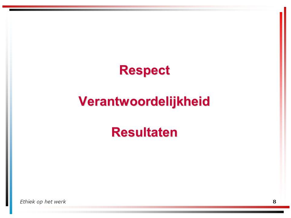 Respect Verantwoordelijkheid Resultaten