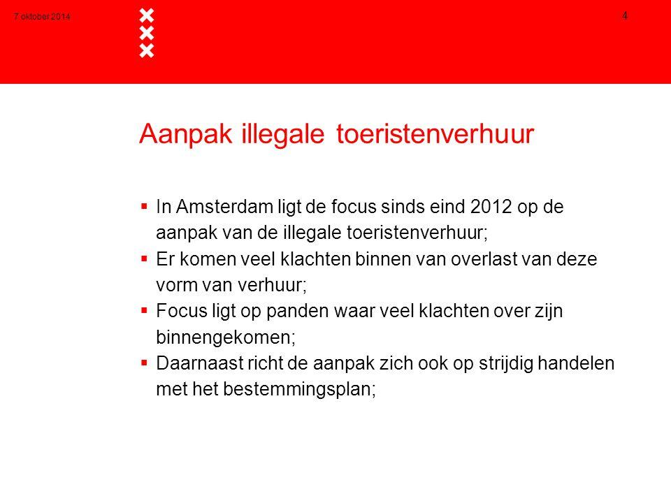 Aanpak illegale toeristenverhuur