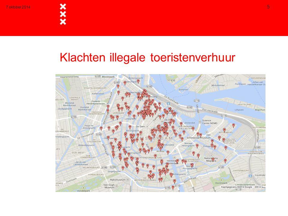 Klachten illegale toeristenverhuur