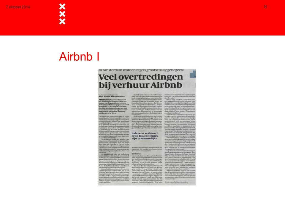7 oktober 2014 Airbnb I
